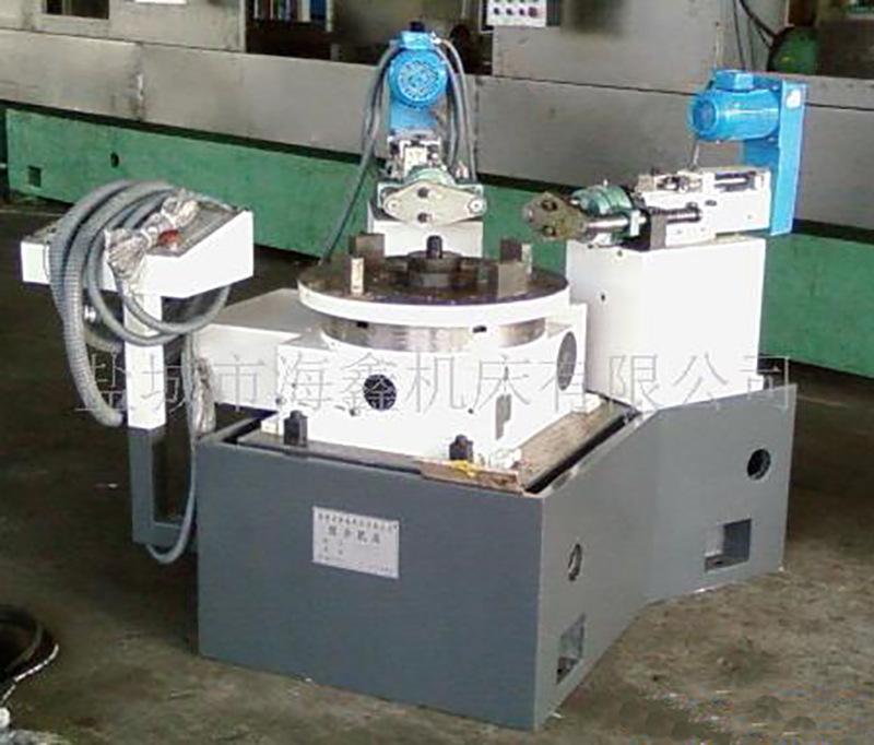 曳引机两工位双轴数控钻铆钉孔机床