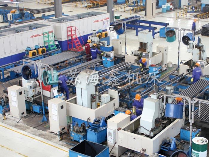 电梯导轨生产线